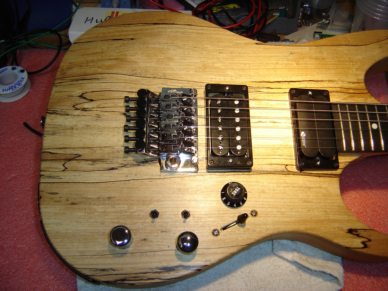 Tta002 Thermal Relief Design Guitar Wiring Actual The Luthier Had Done A Beautiful Job Of Routing Drilling And Modifying Body To Fit All Electronics Controls Into